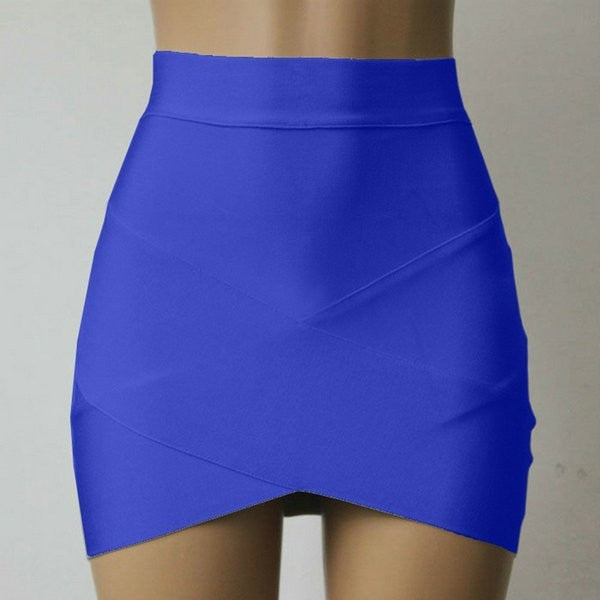 Sexy Bandage Club Wear Mini Skirt with Elastic