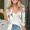 Sexy Flower Beauty Long Sleeve Blazer with Notched Collar