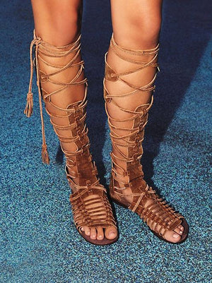 'Ramira' Suede Gladiator Sandals - Brown - Clothing Buy Love