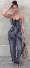Elegant Sexy Spaghetti Strap Sleeveless Backless Bow Wide legs Jumpsuit/Romper