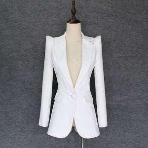 CBL Strong Shoulder Blazer - White