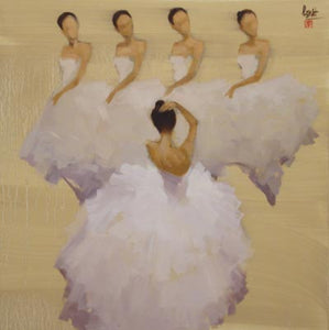 Five dancing ladies