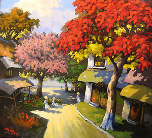 Copy of Street with red tree