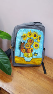Van Gogh Sunflowers - Painting on Hershel-like backpack