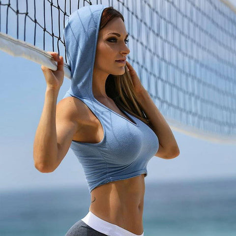 Blue Hooded Top