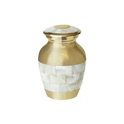 Miniature Mother of Pearl Keepsake Urn