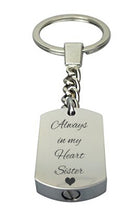 Always in my Heart Sister Cremation Urn Keychain Keyring