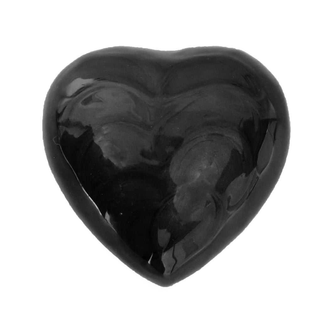 Black Enamel Heart Keepsake Urn