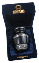 Miniature Black and Silver Night Sky Keepsake Urn