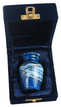 Miniature Blue Abstract Pattern Keepsake Urn