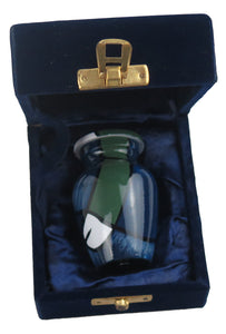 Miniature Blue and Green Abstract Keepsake Urn