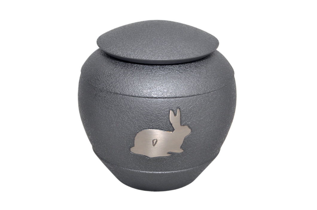 Grey with Silver Rabbit Urn
