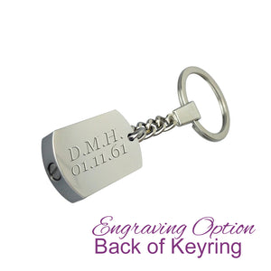 Always in my Heart Uncle Cremation Urn Keychain Keyring