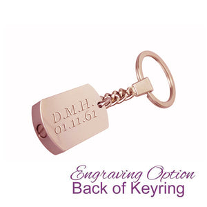 Always in my Heart Personalised Rose Gold Cremation Urn Keychain Keyring