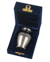Miniature Black and Silver Olympia Keepsake Urn