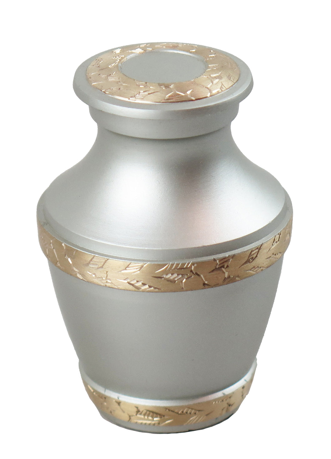 Miniature Silver and Gold Olympia Keepsake Urn