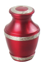 Miniature Red and Silver Olympia Keepsake Urn