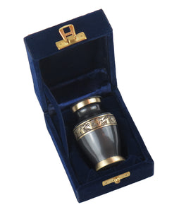 Miniature Slate Grey and Gold Olympia Olympia Keepsake Urn
