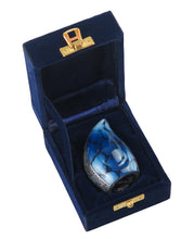 Miniature Blue Teardrop Keepsake Urn