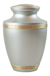 Large Silver and Gold Olympia Adult Brass Urn