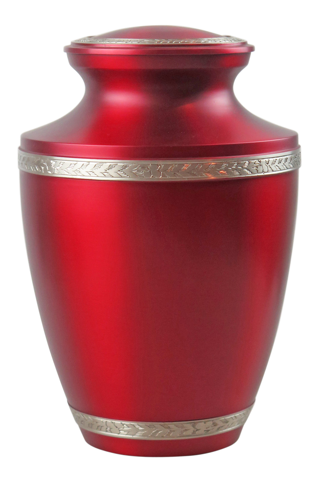 Large Red and Silver Olympia Adult Brass Urn