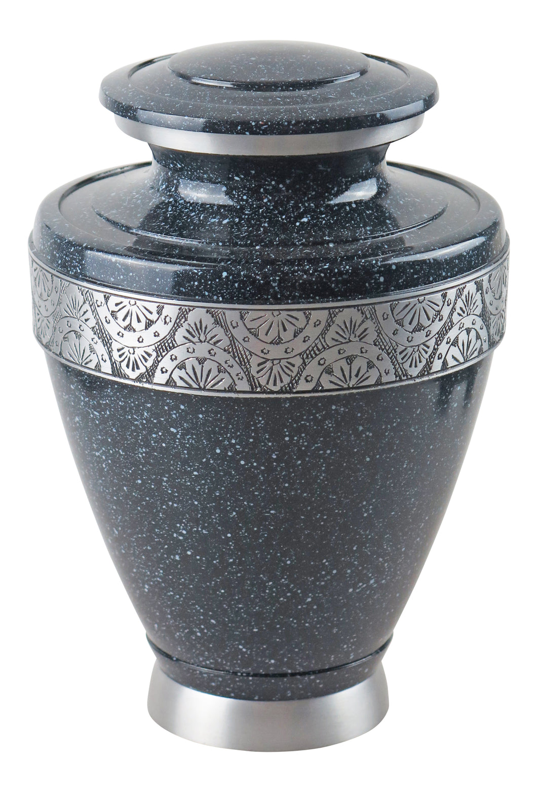 Large Black and Silver Night Sky Olympia Adult Brass Urn