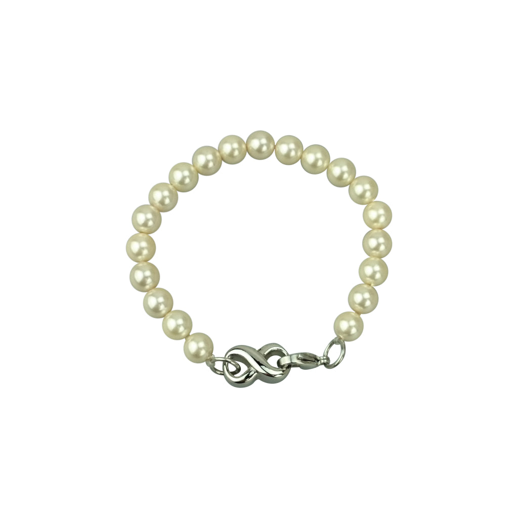 Infinity Pearl Cremation Urn Bracelet