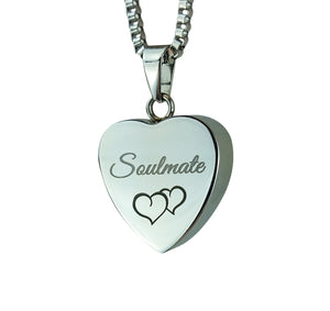 Soulmate Heart Cremation Urn Pendant