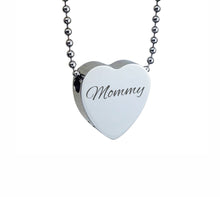 Mommy Heart Cremation Urn Pendant