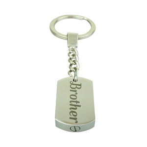 Brother Cremation Urn Keychain Keyring