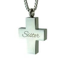 Sister Cross Cremation Urn Pendant