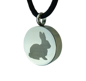 Rabbit Cremation Urn Pendant