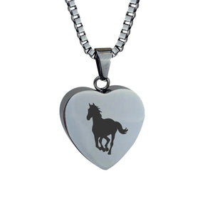 Horse Heart Cremation Urn Pendant