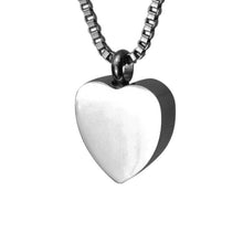 Plain Heart Cremation Urn Pendant - Optional Personalisation
