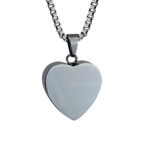 Heart Cremation Urn Pendant - Optional Personalisation