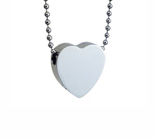Through Heart Cremation Urn Pendant - Optional Personalisation