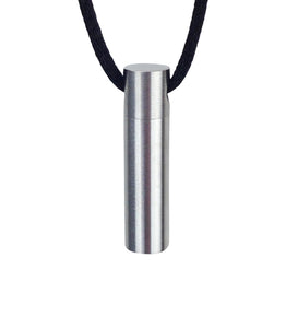 Plain Cylinder Cremation Urn Pendant - Optional Personalisation