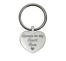 Always in my Heart Mum Heart Cremation Urn Keychain Keyring