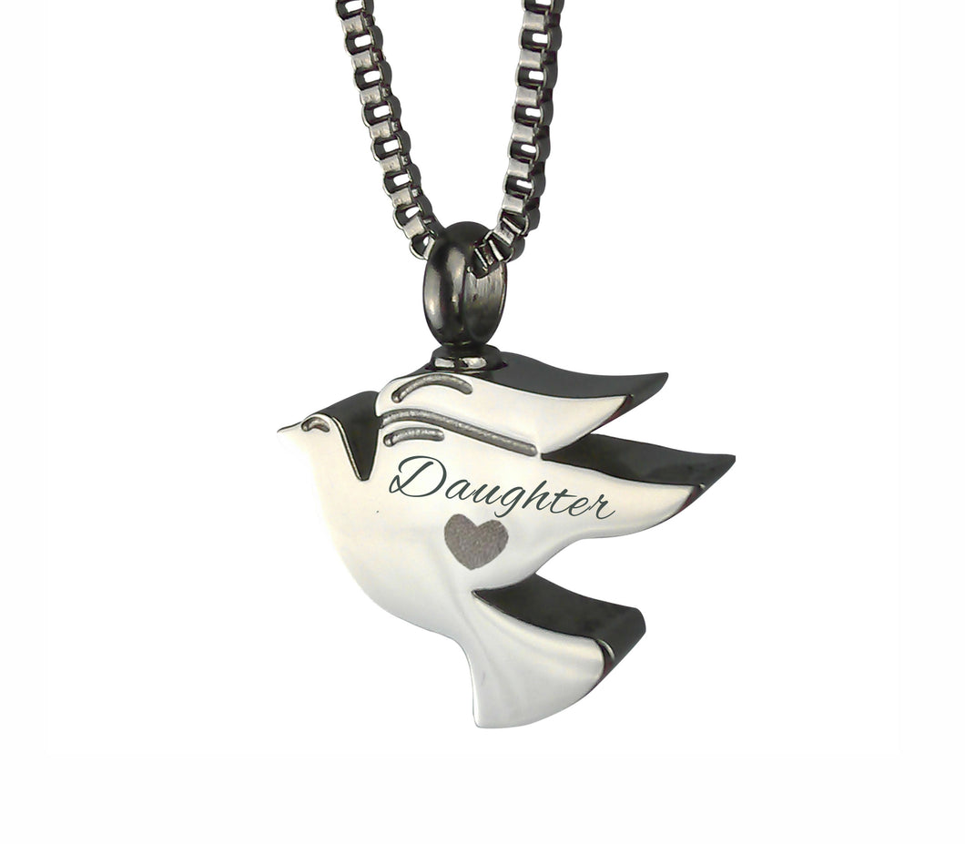 Daughter Dove Cremation Urn Pendant
