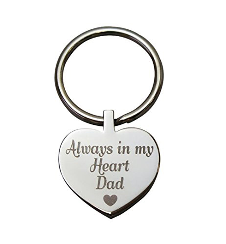 Always in my Heart Dad Heart Cremation Urn Keychain Keyring