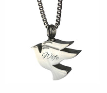 Wife Dove Cremation Urn Pendant