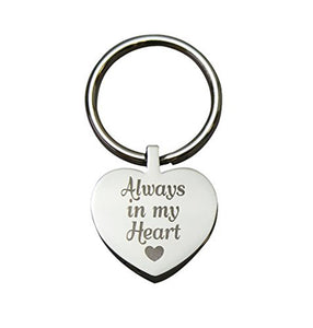 Always in my Heart Cremation Urn Keychain Keyring