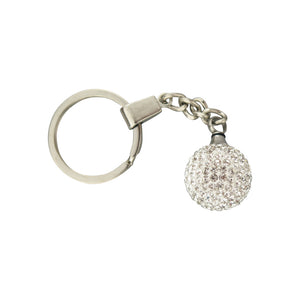 Crystal Ball Cremation Urn Keychain