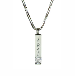 Always Quantum Crystal Cremation Urn Pendant
