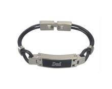 Dad Contemporary Leather Urn Bracelet