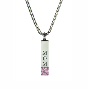 Mom Quantum Pink Crystal Cremation Urn Pendant