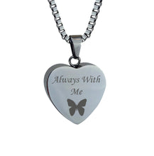 Always with me Butterfly Cremation Urn Pendant