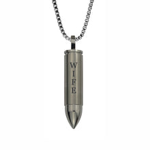 Wife Bullet Cremation Urn Pendant