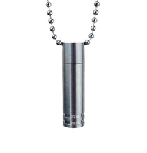 Cylinder Cremation Urn Pendant - Optional Personalisation