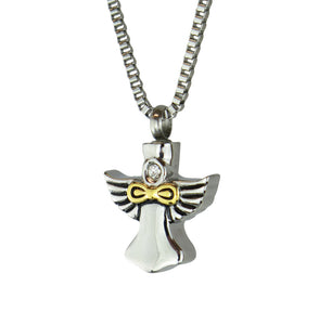 Infinity Angel Cremation Urn Pendant
